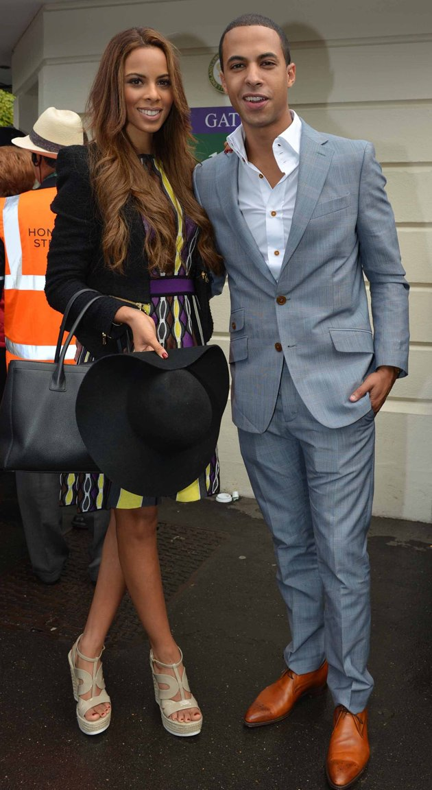 Rochelle Wiseman and Marvin Humes at Wimbledon