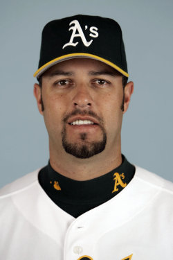 Athletics' Esteban Loaiza. Mexican singer Jenni Rivera and Loaiza