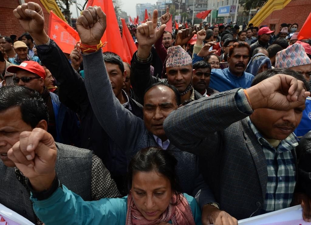 Nepal police fire teargas at charter protesters