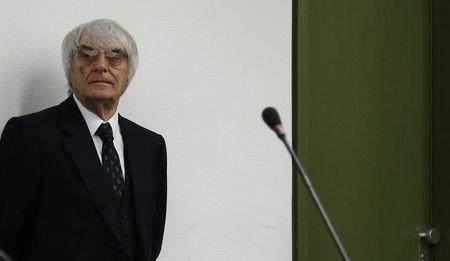Formula One Chief Executive Ecclestone arrives for continuation of his trial in Munich