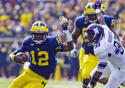 Michigan beats Northwestern 38-31 in OT