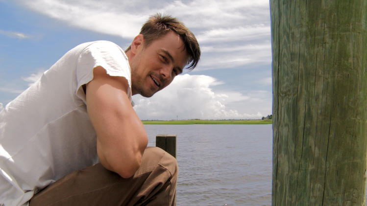 Safe Haven Exclusive: Josh Duhamel goes crabbing
