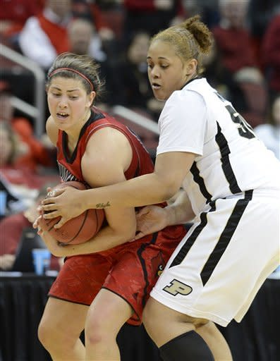 Louisville women beat Purdue 76-63 in 2nd round