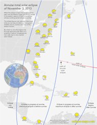 Cartographer Michael Zeiler of Eclipse-Maps.com created this map depicting the partial solar eclipse views along the North American East Coast during the Nov. 3, 2013 hybrid solar eclipse.