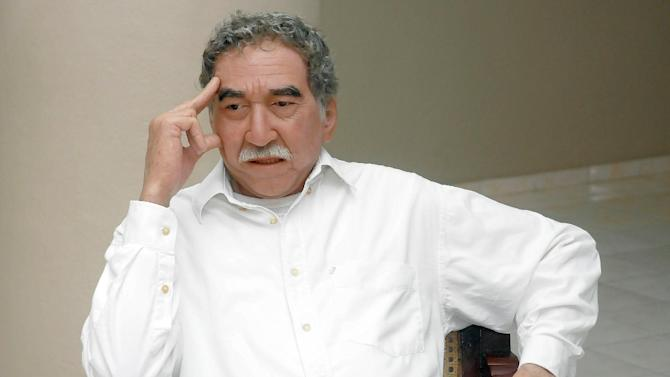 A wax sculpture of Gabriel Garcia Marquez is unveiled in the wax museum of Bayamo, 760km east of Havana, on August 13, 2014