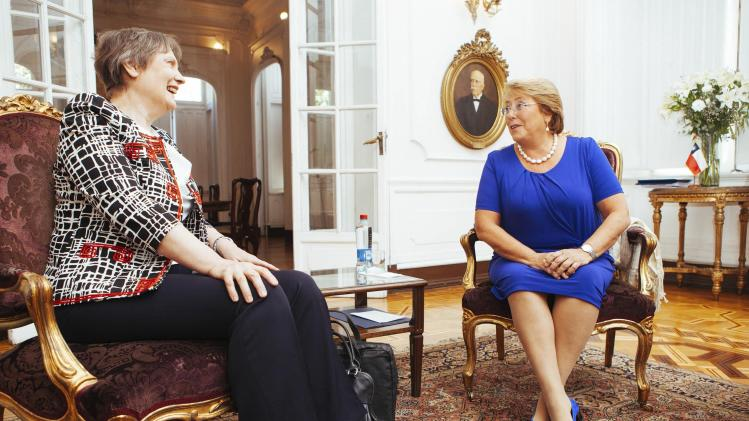 Chile's President-elect Bachelet meets with Clark, head of the United Nations Development Programme, in Santiago