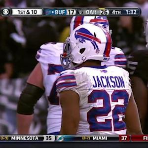 Buffalo Bills running back Fred Jackson 34-yard reception