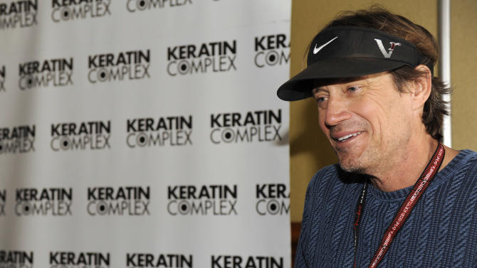 Actor Kevin Sorbo visits the Keratin Complex pop-up salon at the Fender Music lodge during the Sundance Film Festival on Saturday, Jan. 19, 2013, in Park City, Utah. (Photo by Jack Dempsey/Invision for Fender/AP Images)