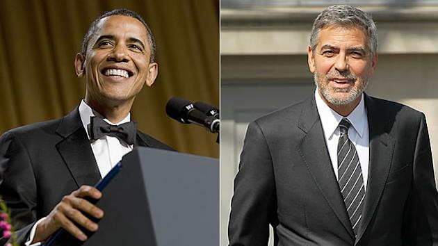 Obama Jokes with Clooney at Fundraising Gala