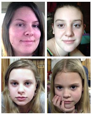 "This combo image made of undated photos provided by the Mississippi Department of Public Safety shows, clockwise from top left, Jo Ann Bain and her daughters, Adrienne, 14, Kyliyah 8, and Alexandria,12. Bain and her daughters may be in ""extreme danger"" after they were abducted in Tennessee and last seen in Mississippi, but they could be in another state where their suspected kidnapper has connections, authorities said Saturday, May 5, 2012. The Mississippi Highway Patrol issued an Amber Alert on Saturday morning, and Tennessee authorities also have issued an alert.  (AP Photo/Mississippi Department of Public Safety)"