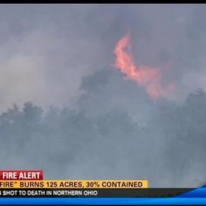 """Gun Fire"" burns 125 acres, 30 percent contained"