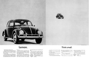 "Copywriting Tips from the VW ""Think Small"" Ad Man image Lemon and Think Small 1024x672"