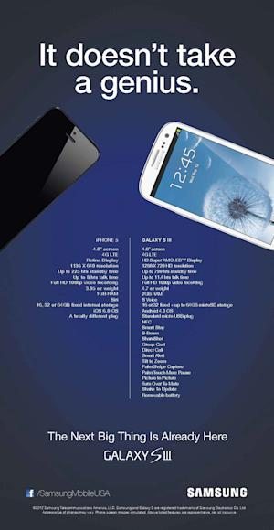 Samsung Takes Jab at iPhone 5 With Fiesty Ad