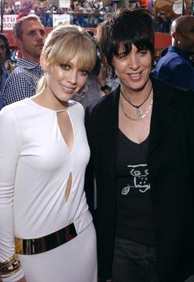 Hilary Duff and Diane Warren at the Universal City premiere of Universal Pictures' The Perfect Man