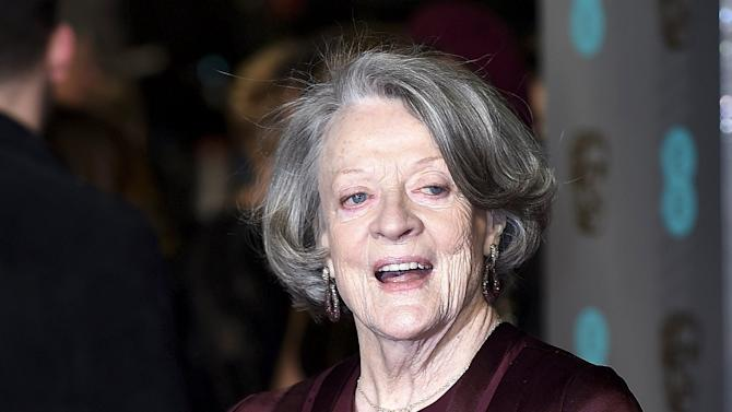 Maggie Smith arrives at the British Academy of Film and Television Arts (BAFTA) Awards in London