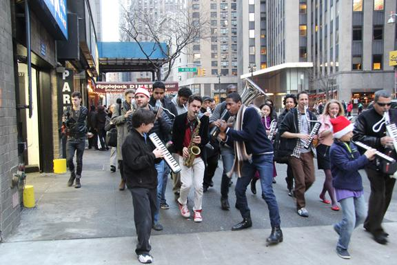 NYC event marks winter solstice with music parades