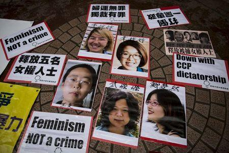 China frees 5 activists