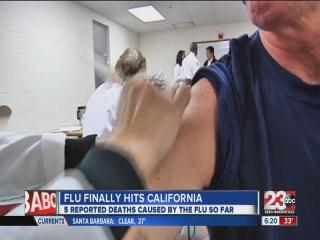 Flu finally hits California