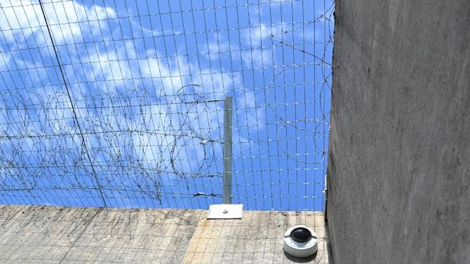 This undated photo distributed by Ila Prison shows an exercise courtyard in the prison just outside Oslo, Norway where terror charged Anders Behring Breivik has been held most of the time since the July 22 attacks in Oslo and at Utoya last year. The verdict against Breivik is to be announced on Friday August 24, 2012. (AP Photo/Ila Prison, Glefs AS)  NORWAY OUT
