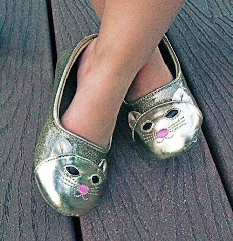 The kitty shoes belonging to Ryan Patterson's daughter Harlow -- Access Hollywood
