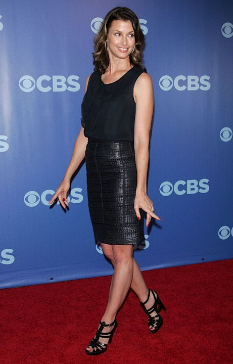 "Bridget Moynahan (""Blue Bloods"") attends the 2010 CBS Upfront at The Tent at Lincoln Center on May 19, 2010 in New York City."
