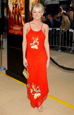 Katie Lohman at the Hollywood premiere of Paramount Pictures' Sahara