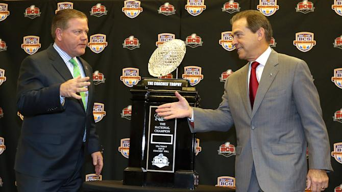 NCAA Football: BCS National Championship-Head Coaches Press Conference