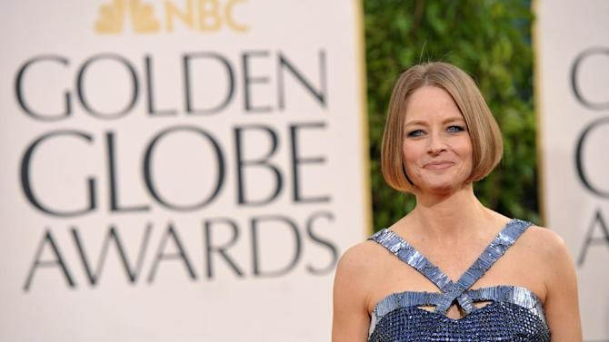 Jodie Foster arrives at the 70th Annual Golden Globe Awards at the Beverly Hilton Hotel on Sunday Jan. 13, 2013, in Beverly Hills, Calif. (Photo by John Shearer/Invision/AP)