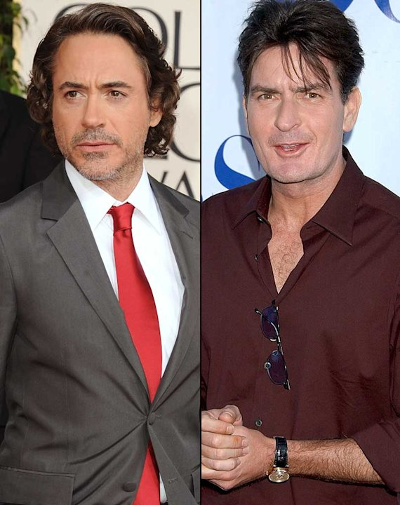 Downey Jr Sheen Split