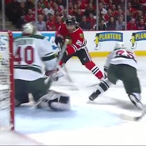Saad strikes quickly on Dubnyk in 1st period