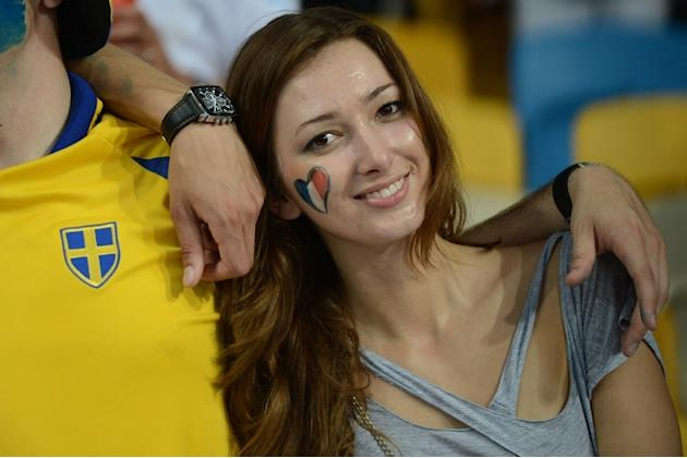 Swedish And French Fans AFP/Getty Images