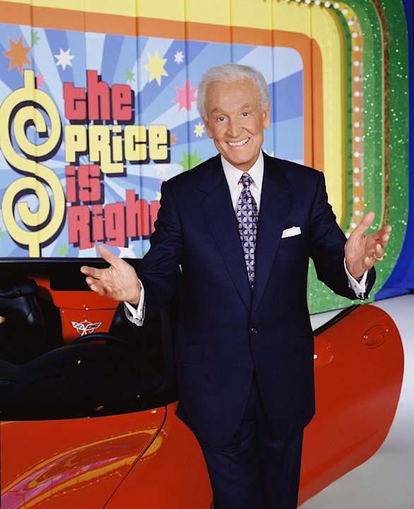 Bob Barker hosts The Price Is Right on CBS.