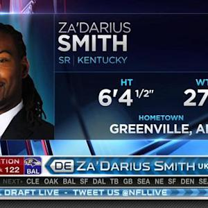 Baltimore Ravens pick linebacker Za'Darius Smith No. 122 in 2015 NFL Draft