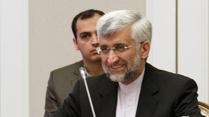 Iran's Supreme National Security Council Secretary and chief nuclear negotiator Saeed Jalili listens during a meeting on Iran's nuclear program, in Almaty, Wednesday, Feb. 27, 2013. Seeking even a small step forward in a yearslong dispute, negotiators from Iran and six world powers mulled options for preserving Tehran's nuclear program while still trying to keep it from becoming an atomic arsenal. (AP Photo/Shamil Zhumatov, Pool)