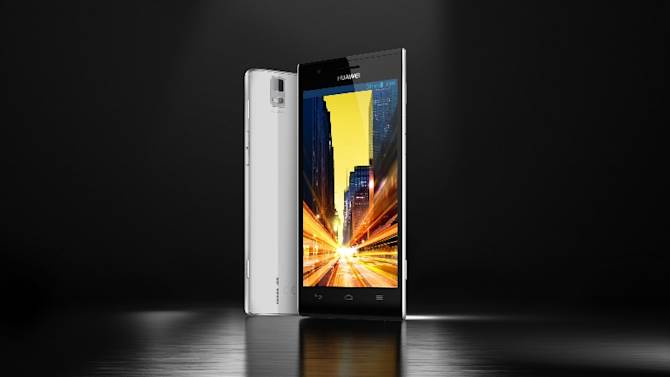 "This undated product image provided by Huawei, shows the Chinese company's new flagship model that it calls ""the fastest smartphone in the world.""The company said Sunday, Feb. 24, 2012, the device supports faster download speeds than other phones, but today's wireless networks aren't equipped to supply those speeds. (AP Photo/Huawei)"