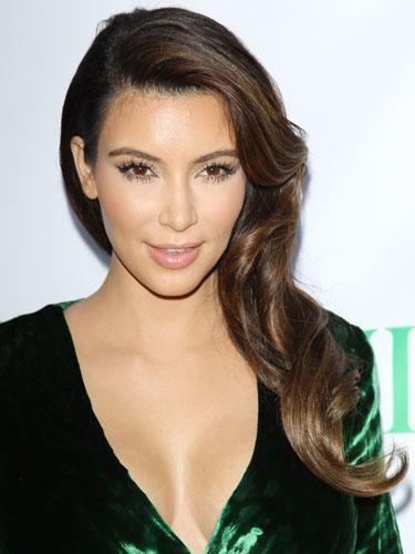 Long hair: Kim Kardashian