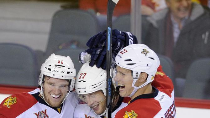 Monahan lifts Flames past Panthers in shootout