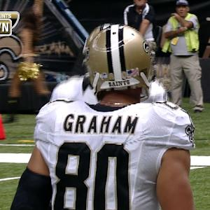 New Orleans Saints tight end Jimmy Graham continues to dunk