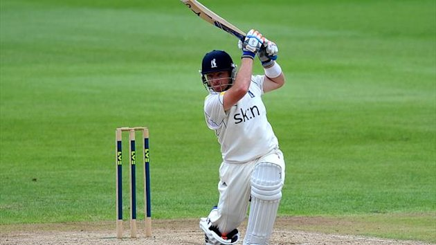 Ian Bell, pictured, and Jonathan Trott made just six appearances between them for Warwickshire last term