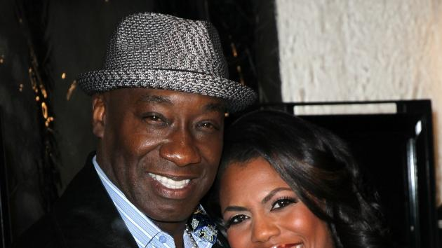 Michael Clarke Duncan and Omarosa Manigault-Stallworth attend the premiere of Relativity Media's 'Act of Valor' at ArcLight Cinemas in Hollywood on February 13, 2012 -- Getty Images