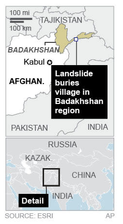 Map locates Badakhshan, Afghanistan; 1c x 3 inches; 46.5 mm x 76 mm;