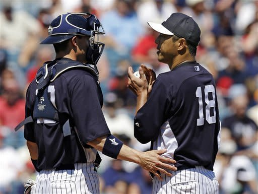 Boesch goes 0 for 3 in Yankees' debut, 7-0 loss