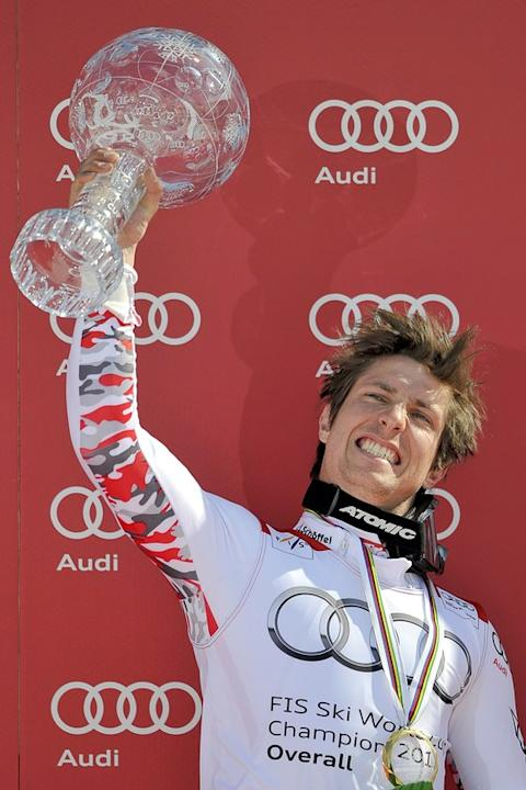 Austria's Marcel Hirscher Raises AFP/Getty Images