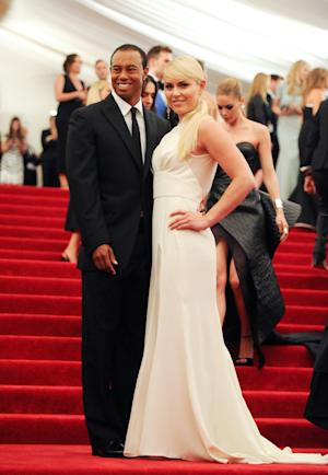 """Professional golfer Tiger Woods and girlfriend professional skier Lindsey Vonn attend The Metropolitan Museum of Art  Costume Institute gala benefit, """"Punk: Chaos to Couture"""", on Monday, May 6, 2013 in New York. (Photo by Evan Agostini/Invision/AP)"""