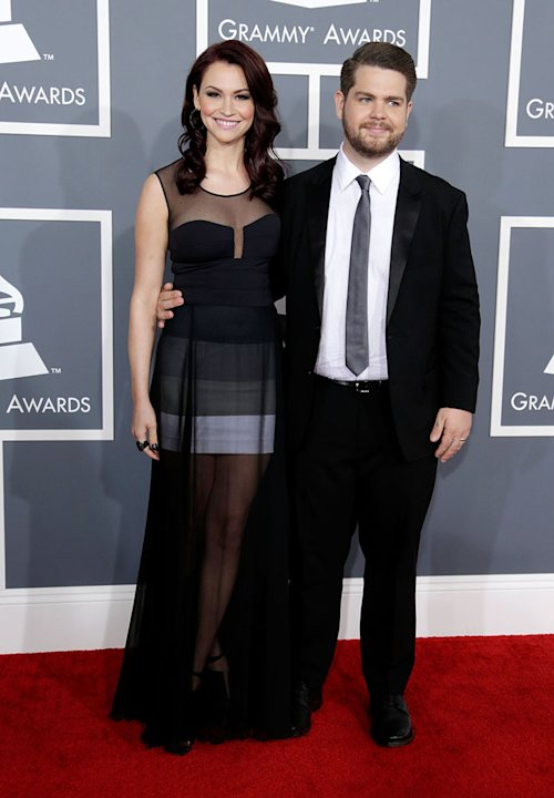 The 55th Annual GRAMMY Awards - Red Carpet: Jack Osbourne and Lisa Stelly