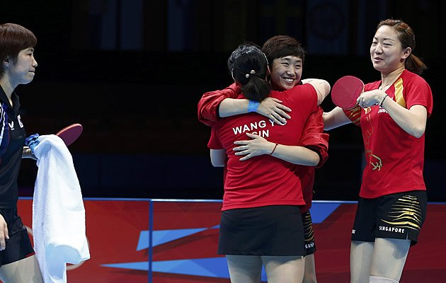 The team celebrated after beating S.Korea to clinch a historic second bronze for Singapore (Reuters)
