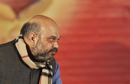 Shah, a leader of India's main opposition BJP attends his party's national council meeting in New Delhi