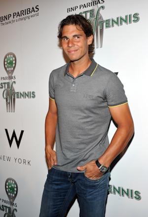 COMMERCIAL IMAGE In this photograph taken by AP Images for TENNIS.com, defending US Open men's champion Rafael Nadal attends the 12th annual BNP Paribas Taste of Tennis benefit event co-sponsored by TENNIS.com, Thursday, Aug. 25, 2011, in New York.  (Diane Bondareff/AP Images for TENNIS.com)