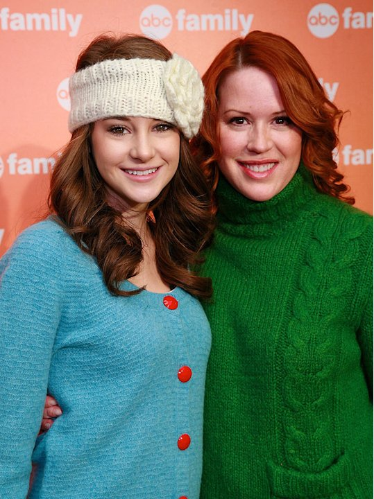 Shailene Woodley and Molly Ringwald attend the ABC Family's 25 Days of Christmas Winter Wonderland event at the Rock Center Cafe on December 7, 2008