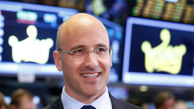 King CEO Riccardo Zacconi smiles during an interview during the IPO of Mobile game maker King Digital Entertainment Plc on the floor of the New York Stock Exchange